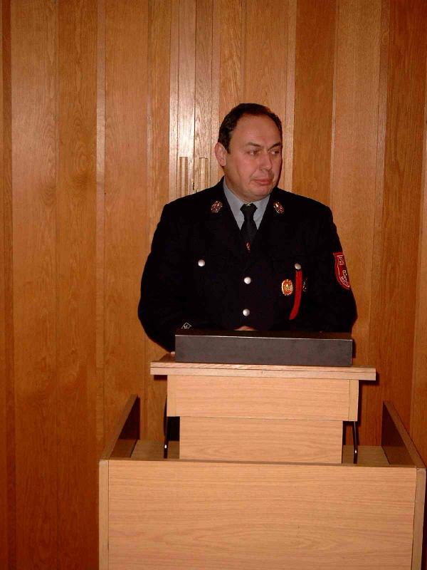 Stellv. Kommandant Vogel bei seiner Rede