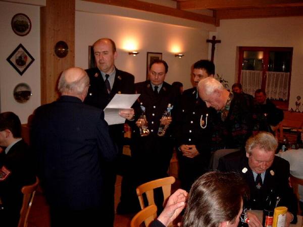 Leonhard Haas, Horts Gebhard mit den beiden Kommandanten und dem ersten Vorstand