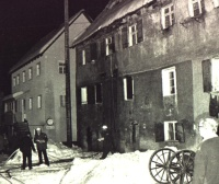 Der Brand im Steinernen Haus am 08.Januar 1977