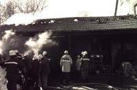 Der Brand im Nebengebäude ein Kfz-Werkstatt in der Haunachstraße am 24. Februar 1987